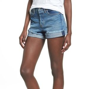 Levi's Wedgie High Waist Denim Shorts